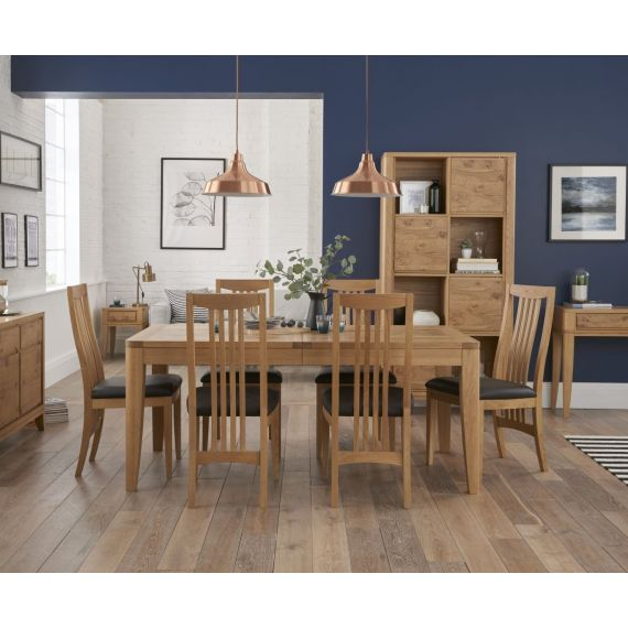 High Park Pippy Oak Large Extending Dining Table - High Park Furniture