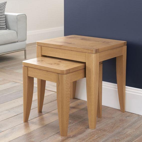 High Park Pippy Oak Nest of Tables - High Park Furniture