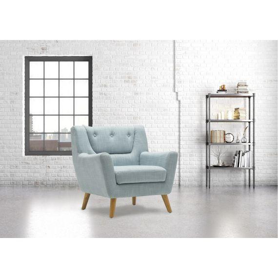 Lambeth Fabric Armchair - Duck Egg Blue