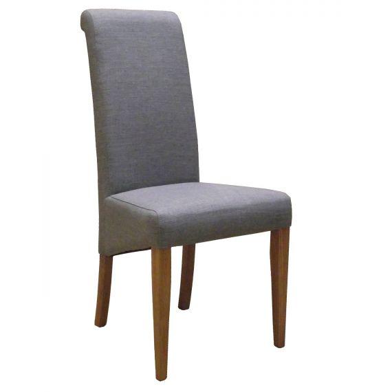 Light Grey Fabric Dining Chair