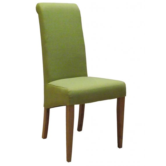 Lime Green Fabric Dining Chair