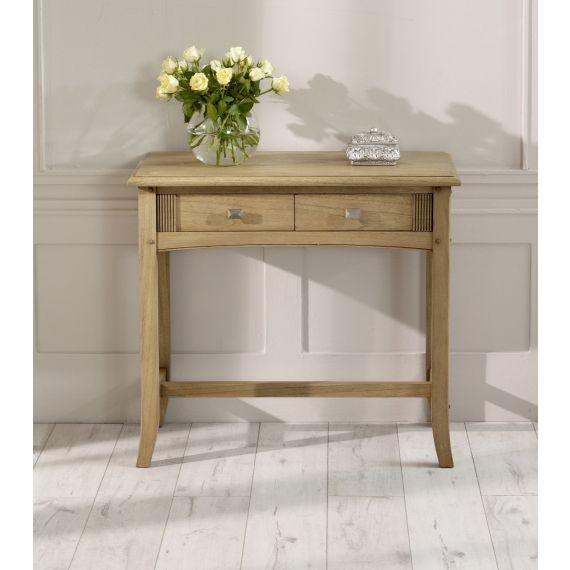Lincoln Ash 2 Drawer Hall Table