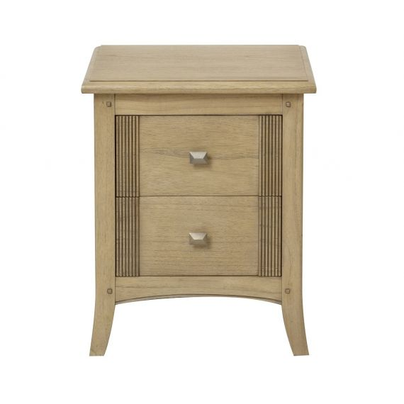 Lincoln Ash 2 Drawer Lamp Table