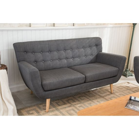 Loft Grey Fabric 3 Seater Sofa