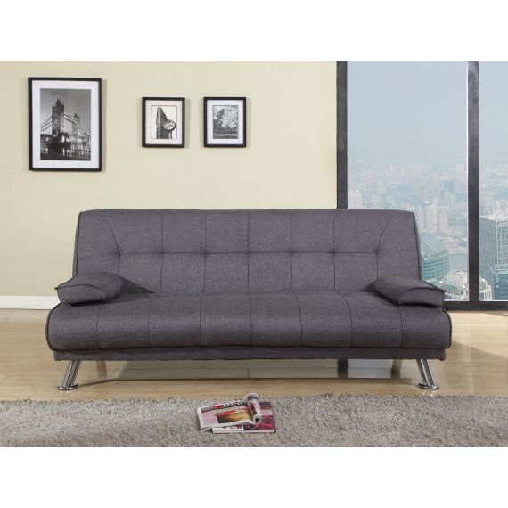 Logan Grey Fabric 3 Seater Sofa Bed