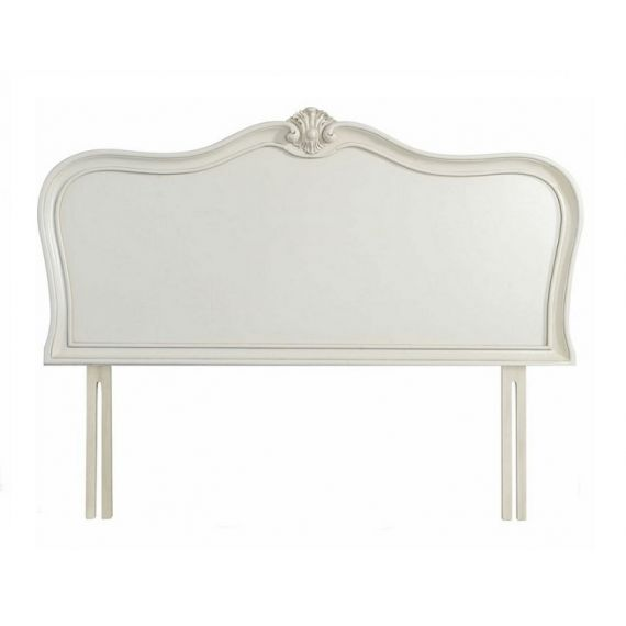 "Louis French Ivory Painted 4' 6"" Double Headboard"
