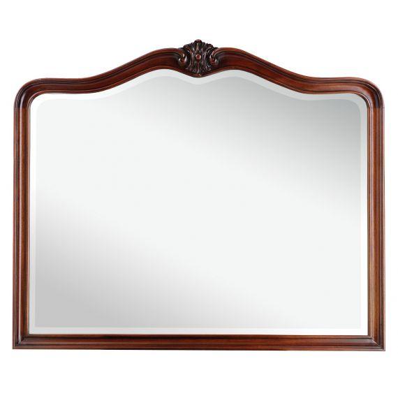 Louis French Mahogany Wall Mirror