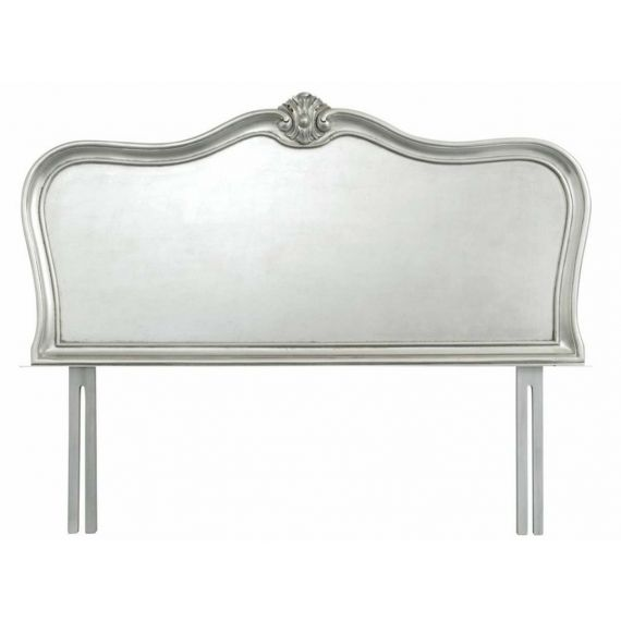 "Louis French Silver Leaf 4' 6"" Double Headboard"
