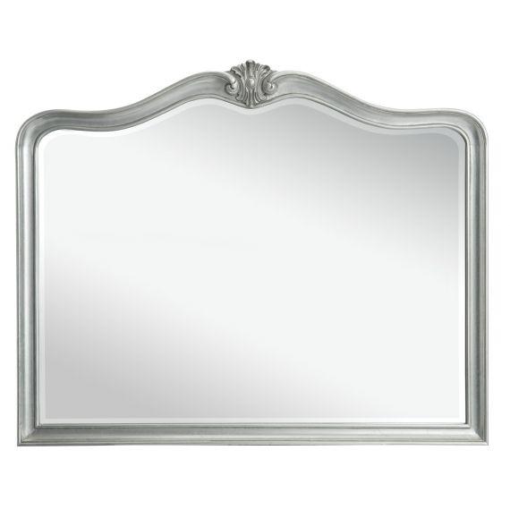 Louis French Silver Leaf Wall Mirror