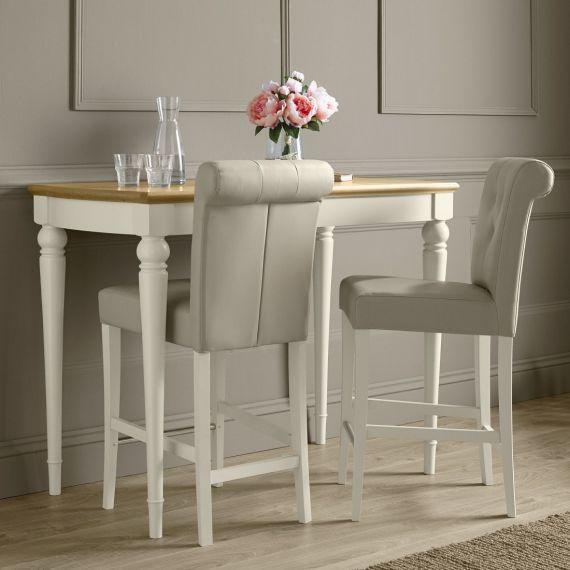 Montreux Oak & Antique White Painted Bar Table - Montreux Furniture