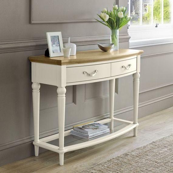 Montreux Oak & Antique White Painted Console Table - Montreux Furniture
