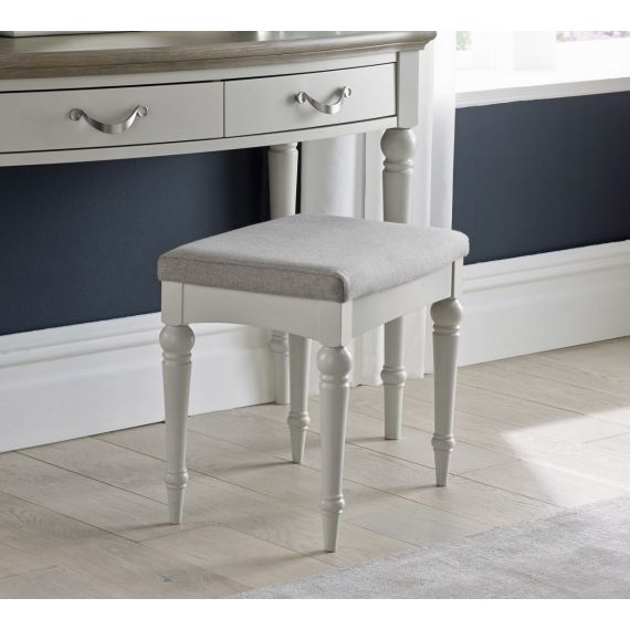 Montreux Soft Grey Painted Dressing Table Stool - Montreux Furniture
