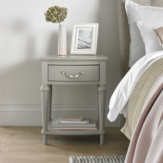 Montreux Urban Grey Painted 1 Drawer Bedside Table - Montreux Furniture