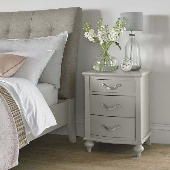 Montreux Urban Grey Painted 3 Drawer Bedside Chest - Montreux Furniture