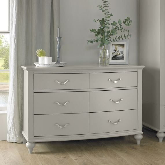 Montreux Urban Grey Painted 6 Drawer Wide Chest - Montreux Furniture