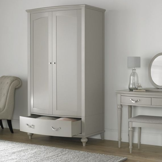 Montreux Urban Grey Painted Double Wardrobe - Montreux Furniture
