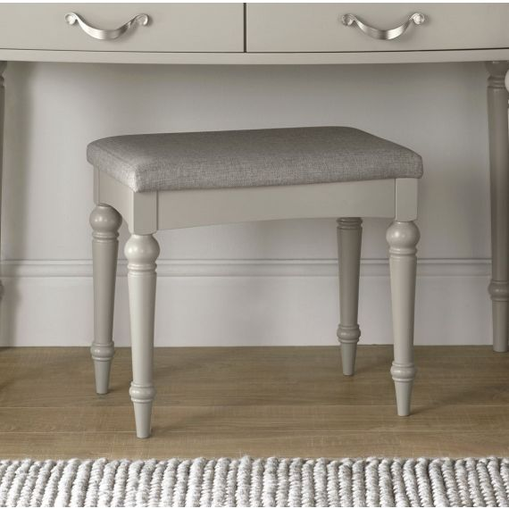 Montreux Urban Grey Painted Dressing Table Stool - Montreux Furniture