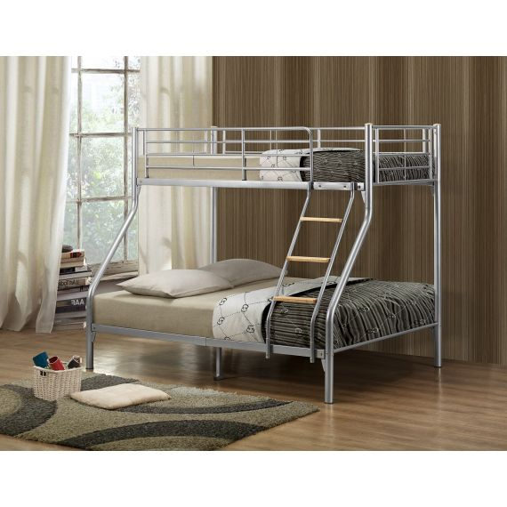 Nexus Triple Sleeper Silver Metal Bunk Bed