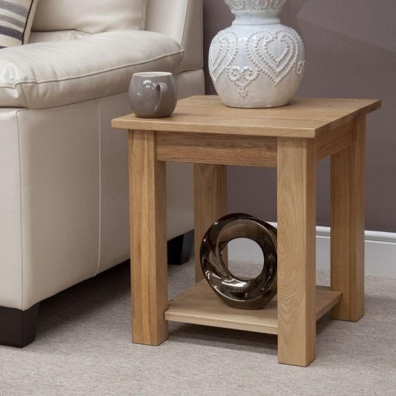 Occasional Solid Oak Lamp Table