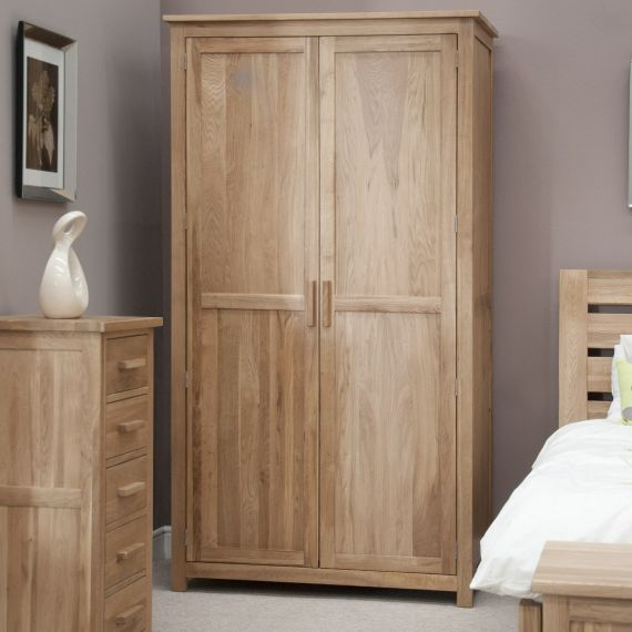 Opus Solid Oak 2 Door Double Wardrobe