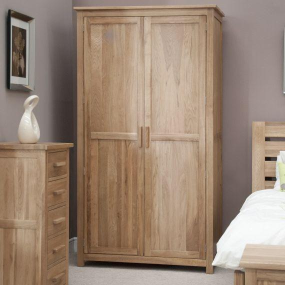 Opus Solid Oak 2 Door Double Wardrobe