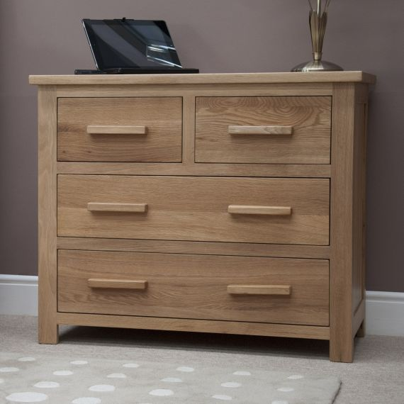 Opus Solid Oak 4 Drawer Chest