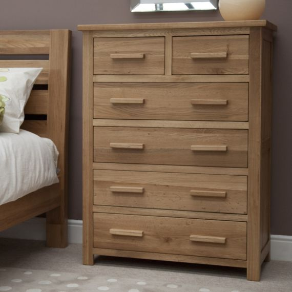 Opus Solid Oak 6 Drawer Chest
