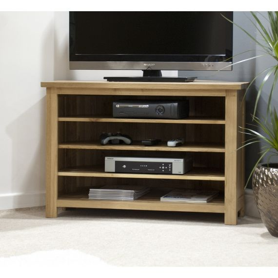 Opus Solid Oak Corner TV Cabinet