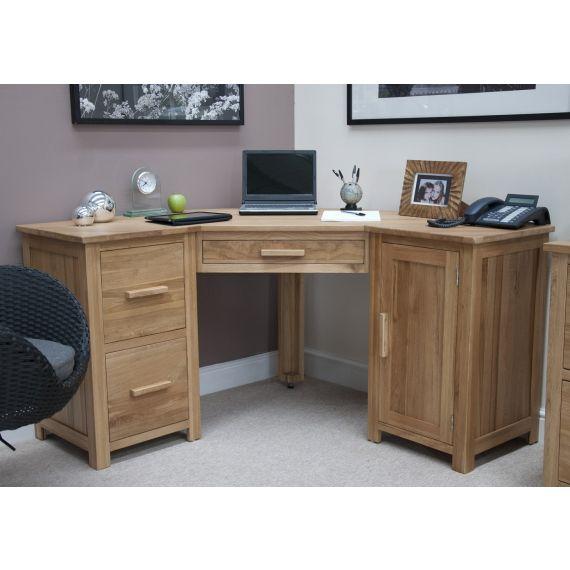 Opus Solid Oak Large Corner Desk