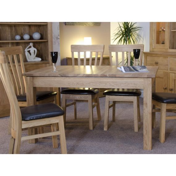 Opus Solid Oak large Extending Dining Table - Opus Oak Furniture