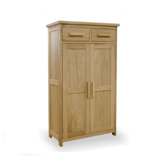 Opus Solid Oak Shoe Cupboard - Opus Oak Furniture