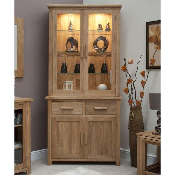 Opus Solid Oak Small Display Unit/ Welsh Dresser