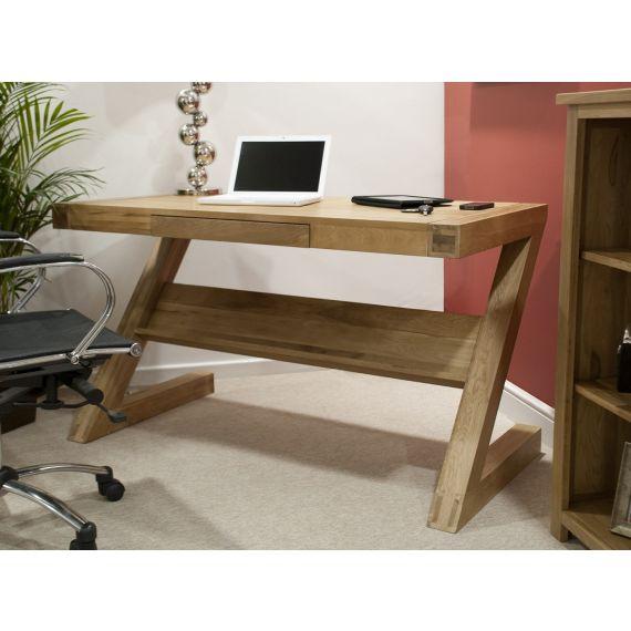 Opus Solid Oak Z Shape Computer Desk