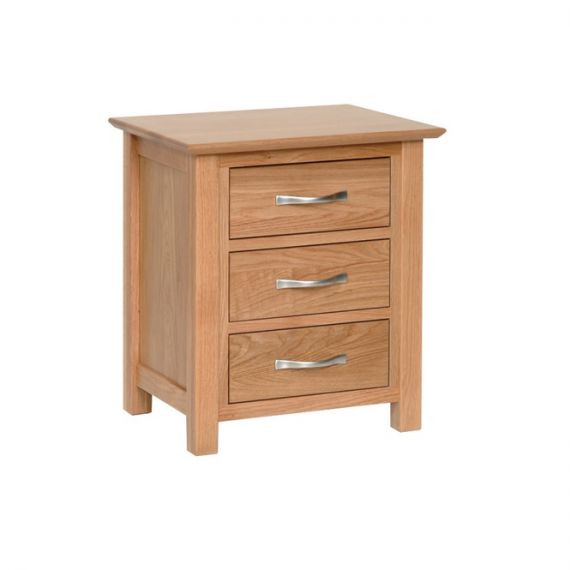 Oxford Contemporary Oak 3 Drawer Bedside Chest