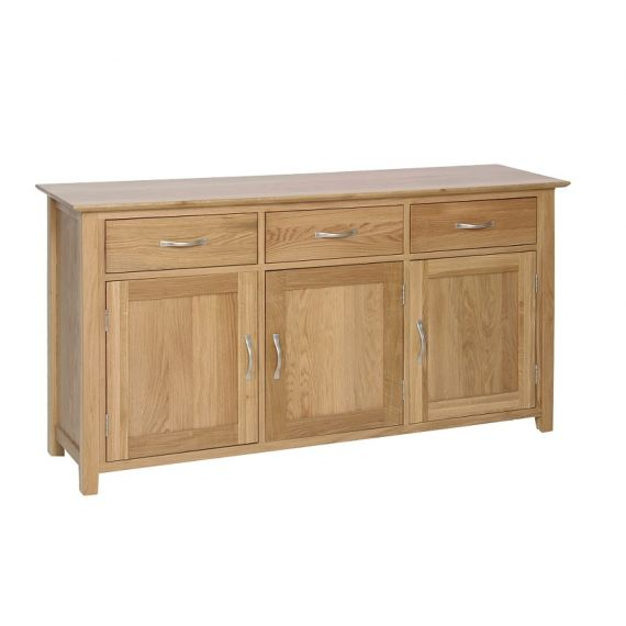Oxford Contemporary Oak Large 3 Door Sideboard