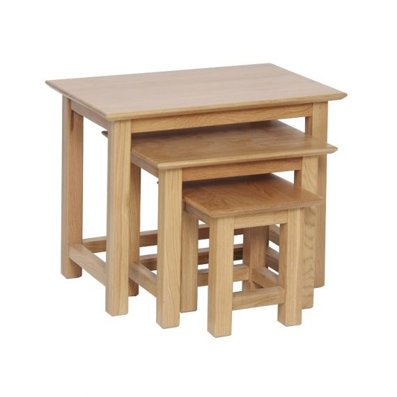 Oxford Contemporary Oak Small Nest of Tables