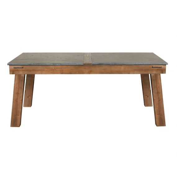 Purbeck Reclaimed Solid Pine Stone Top Dining Table