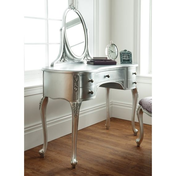 Régency French mid-18th Century Silver Leaf Dressing Table with Mirror