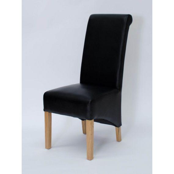 Richmond Black Matt Leather Dining Chair