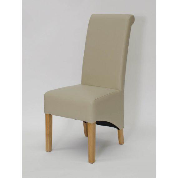 Richmond Bone Matt Leather Dining Chair