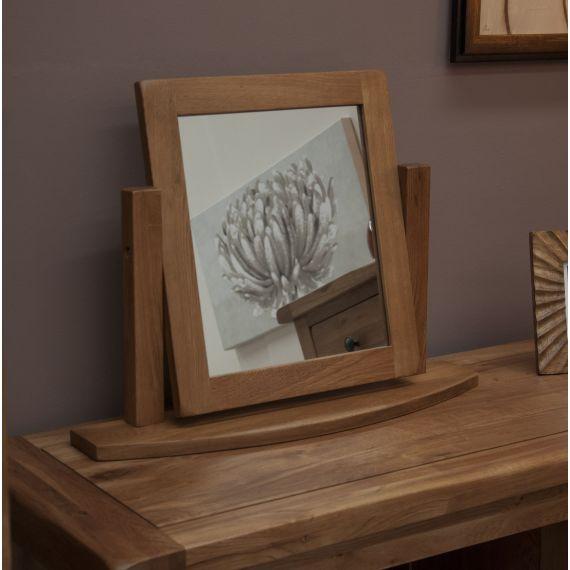 Rustic Solid Oak Dressing Table Mirror