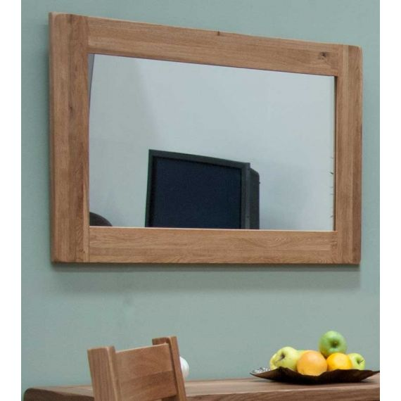 Rustic Solid Oak Wall Mirror