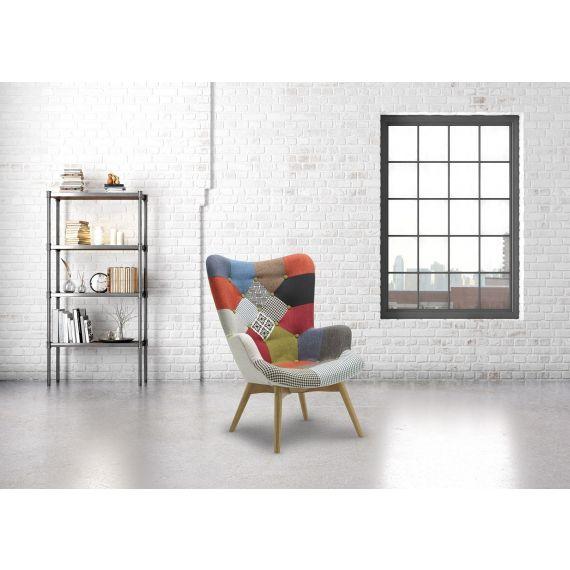 Sloane Patchwork Fabric Armchair