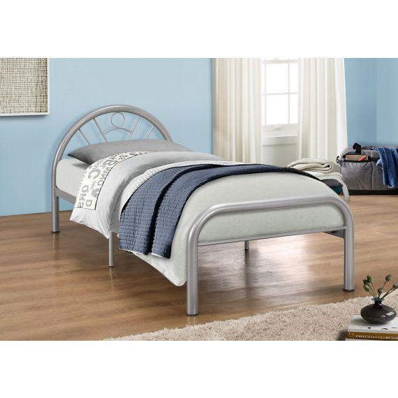 Solo Silver Single Metal Bed