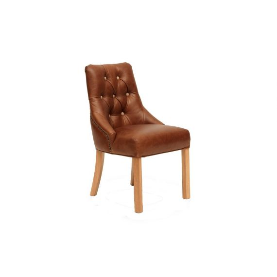 Stanton Brown Leather Dining Chair