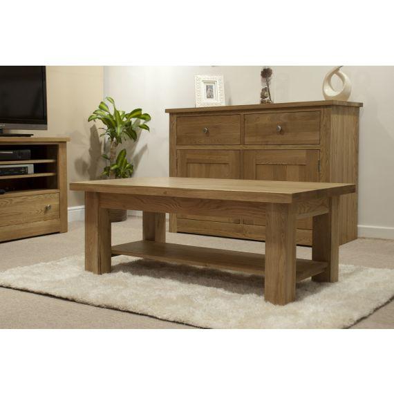 Torino Solid Oak 4x2 Large Coffee Table