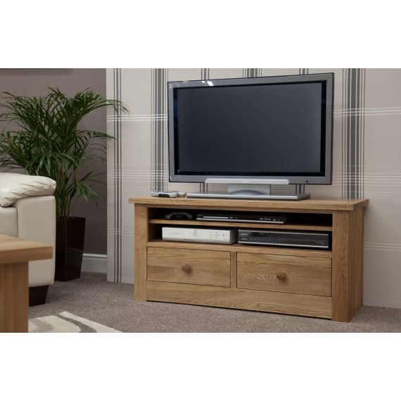 Torino Solid Oak Small Plasma TV Unit