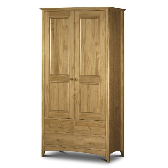 Trent Solid Pine 2 Door Double Combination Wardrobe