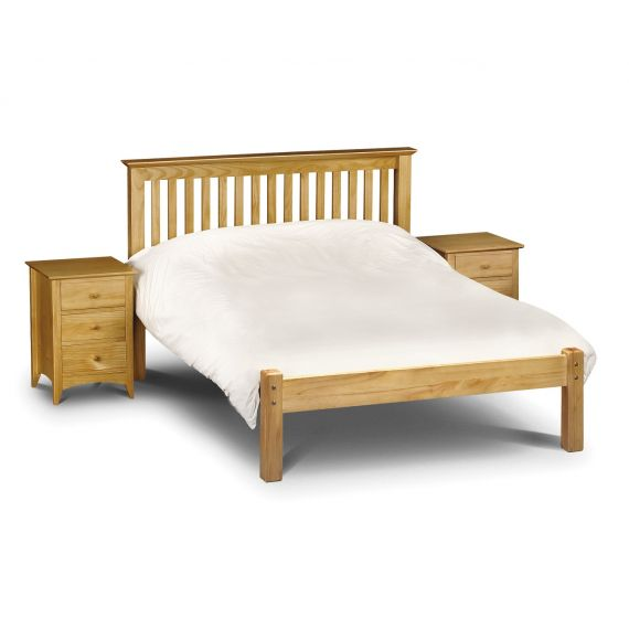 "Trent Solid Pine Low Foot End 4' 6"" Double Bed"