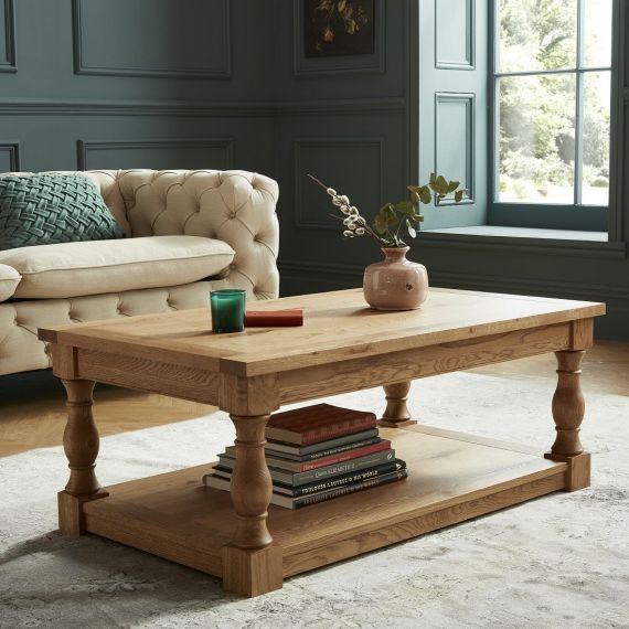 Westbury Rustic Oak Coffee Table - Westbury Furniture